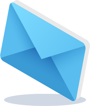 Light Blue Envelope Icon